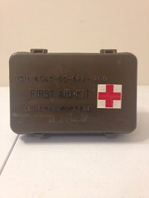 First Aid Kit General Purpose Rigid Case Vintage Medic Box US Military Supplies