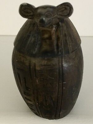 "3"" EGYPTIAN ANTIQUE JACKAL CANOPIC Jar Ancient Egyptian Antique Jackal"