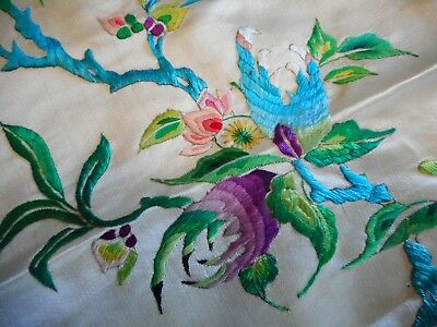THE FINEST Antique CHINESE Embroidered SILK PANEL - with PENDANT & TASSEL - OLD