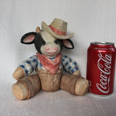 "Enesco Mary's Moo Moos ""Chip"" Tune: ""Home on the Range"" Plays Music 7"" Tall 1993"