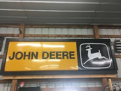 John Deere Sign-Lighted