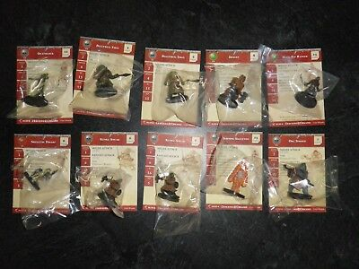 D&D Miniatures Deathnell & War Drum LOT With Cards Sealed Thug Dwarf Elf Orc NEW