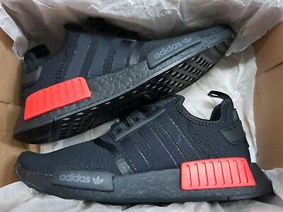 designer fashion 0db07 f8eab ADIDAS MENS [B37618] Originals NMD_R1 Ripstop - Bred Black Lush Red 8-13