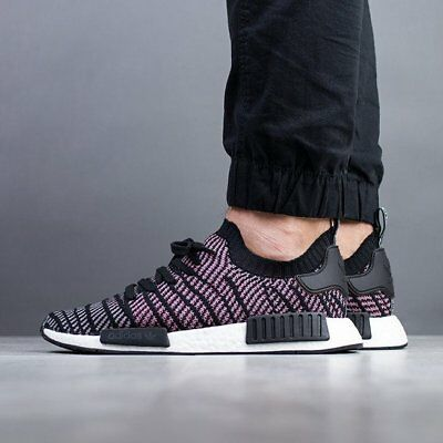 Adidas Originals Nmd R1 Stlt Primeknit Pk Men New Black Grey Pink