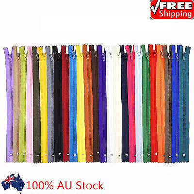 20/40pcs Colorful Closed End Nylon Zippers Tailor Sewing Craft DIY Craft 20cm AU
