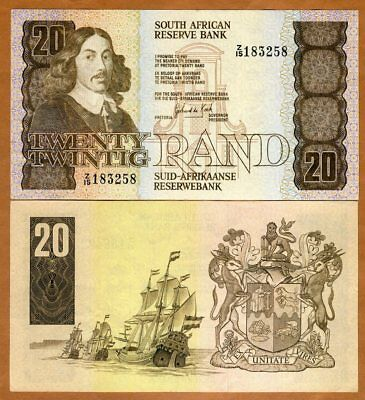 South Africa, 20 Rand ND (1982-1985) P-121c, VF
