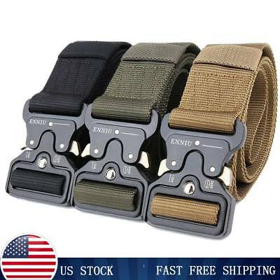 Tactical Belts Military Web Survival  Nylon Belts Mens Army Combat Gear US Stock