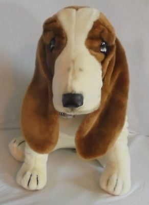 "Vintage Hush Puppies Basset Hound 14""  Plush Stuffed Animal Wolverine 1985"