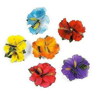 Super Z Outlet Hula Girl Hibiscus Color Assorted Flower Lei Hawaiian Island R...