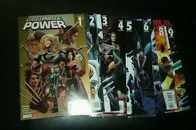 Ultimate power complete set 1-9 movie run collection lot marvel comics