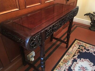 carved Hall Dress Table And Mirror