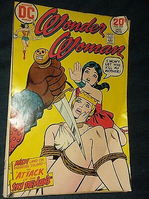 Wonder Woman (1942-1986 1st Series DC) #209 VG bondage cover LOW GRADE lot movie