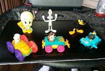 6 vintage looney tunes toy grab bag lot tiny toons bugs bunny daffy duck tweety