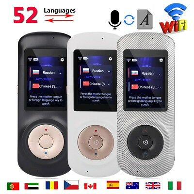 52 Languages Smart WiFi Voice Translator Instant Real Time Two-way Translation