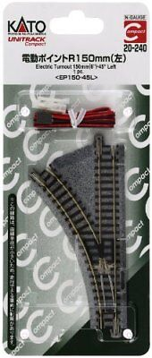 Kato 20-240 UNITRACK Compact Electric Turnout 150mm 45 Left(EP150-45L) (N scale)