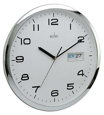 Acctim 21027 Supervisor Day/Date Wall Clock, White