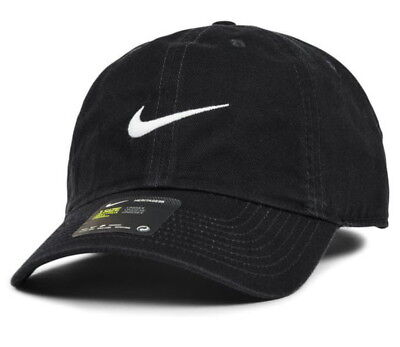 Nike Heritage86 Swiisg Cap/Hat Adjustable Baseball Cap Outdoor Sports Golf Black