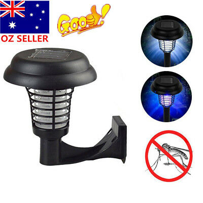 Solar Powered Mosquito Killer Insect Repellent Pest Bug Zapper Garden Light Lamp