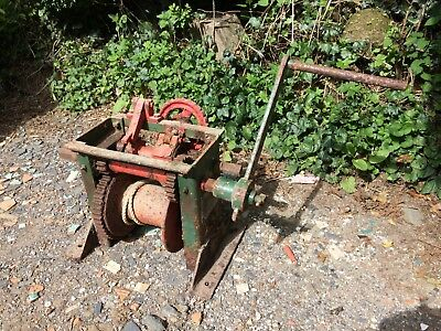 Thompson Bros Vintage Hand Winch, Low Loader, Lorry, Mooring, Drum, + Handle