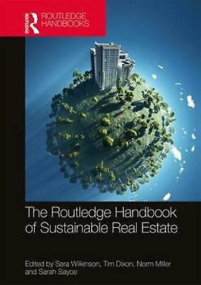 Routledge Handbook of Sustainable Real Estate Hardcover Book Free Shipping!