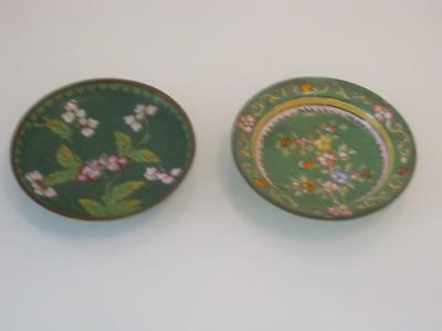 2 Stunning Vintage Chinese  Cloisonne Dishes