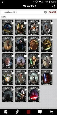 Topps Star Wars Card Trader Portraits Of Prominence [Set 19 Cards] Steel Base