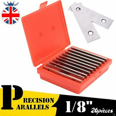 "20PCS Thickness Precision Steel Parallel 1/2"" to 1-5/8"" by 1/8"" (10pairs/Set) AU"