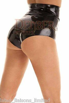 Black Latex Rubber Ladies High Waist Pants Large   2nd BIN