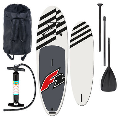 "F2 Allround Inflatable Sup Set 11,6"" Black + Pumpe & Rucksack & Paddel"