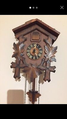 Antique Small Wooden Cuckoo Clock
