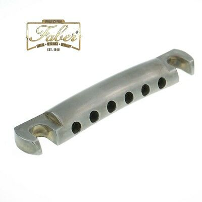 Faber TP59NA TP-59-NA Vintage Spec Alu Tailpiece Stoptail Nickel Aged 3010-2
