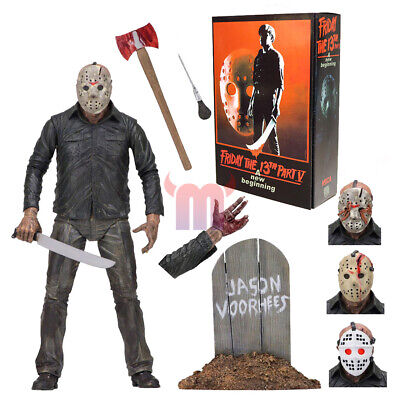 """NECA Friday the 13th Jason Voorhees Ultimate Part 5 7"""" Action Figure 1:12 NIB"""