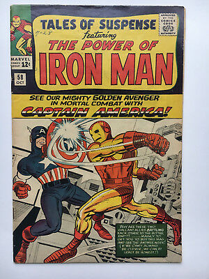 TALES OF SUSPENSE #58 1964 Jack KIRBY cover Stan LEE Captain America Iron Man