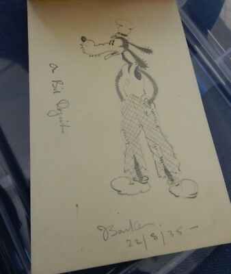 GOOFY depicted in  1935     PENCIL SKETCH   ORIGINAL ARTWORK  DISNEY