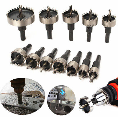 12PCS 15-50mm Hole Saw Tooth Kit HSS Drill Bit Set Cutter For Metal Wood Alloy