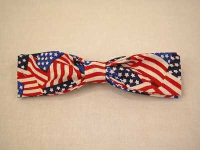 Handmade clip on bow ties- 100% Cotton Large Size (4-7/8 in x 1-3/8 in)
