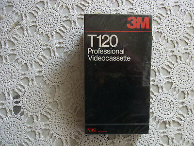 1X VIDEO CASSETTE 3M T -120 Professional videocassette VHS Made in USA LEERCASSE