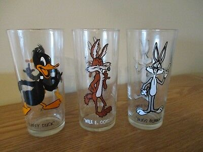 Set of 3 Vintage Pepsi Collector Series Warner Bros. Cartoons Collector Glasses