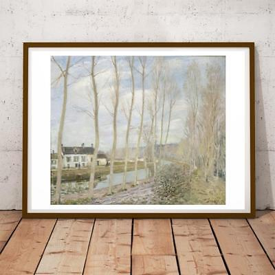 Alfred Sisley French Impressionist Loing Canal 28x22 INCHES ART PRINT