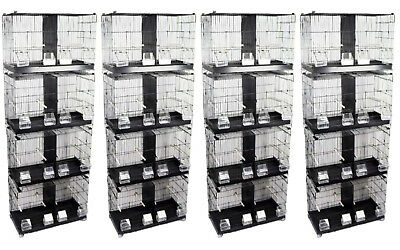 Bird Breeding cage Double Wire for Finch Canary Budgie set of 16 cages Clearance