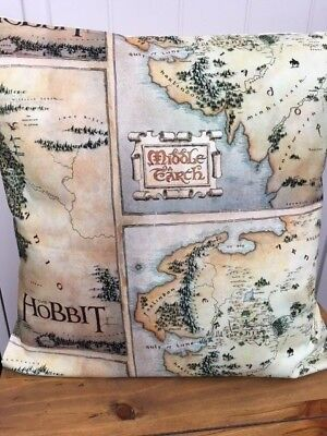 "'The Hobbit' 16"" x 16"" Square Cushion Cover 100% Cotton"