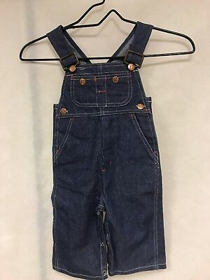 VTG 70s CHILD PENNEY'S BIG MAC BIB OVERALLS BLUE JEANS Rare! 6-12 months