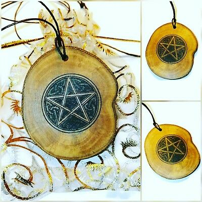 Pentagram Celtic Knot Pentacle Engraved Personalised Necklace Gift for Her wicca