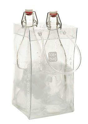 Gimex 17411 Basic King Ice Bag Wine Cooler 2 Bottles or 1 Magnum Clear 33 x 2 x