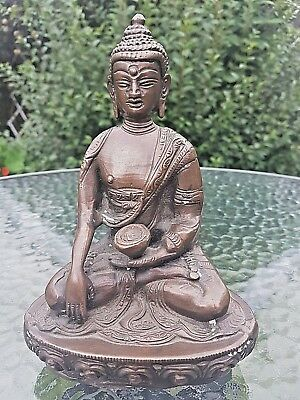 Antique Oriental Chinese Tibet Large&Heavy Bronze Seated  BUDDHA Statue