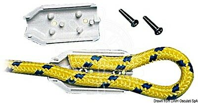 OSCULATI White Plastic Clamps for 6mm Rope Splicing x2 pcs