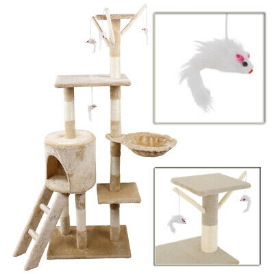 Cat Tree Scratching Climbing Activity Centre Sisal Bed Toys Scratcher Tower S247
