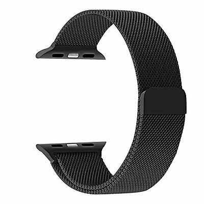 *NEW* SERIES 4 Space Black Loop Magnetic Milanese Stainless Band 4 Apple Watch