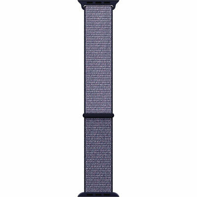 Apple Mqw52Am/a 38Mm Midnight Blue Sports Hook And Loop Closure Watch Band