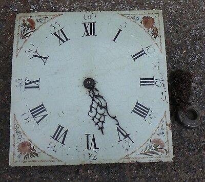 George III provincial 30 hour grandfather longcase clock movement barn find